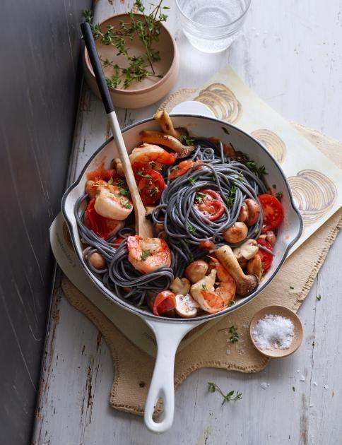 Pasta mit Wirsing, Kürbis, Ente, Reh und Pilzen - so schmecken Nudeln im Winter.