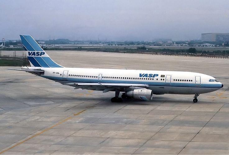 PP-SNL Airbus A300 of VASP at Rio de Janeiro-Galeão International Airport in 1984. Photo by Pedro Aragão