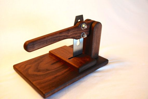 Handmade Solid Hardwood Biltong Slicer by Kincaidwoodworking #biltongslicer #handmade #solidwood #engraved #personalized