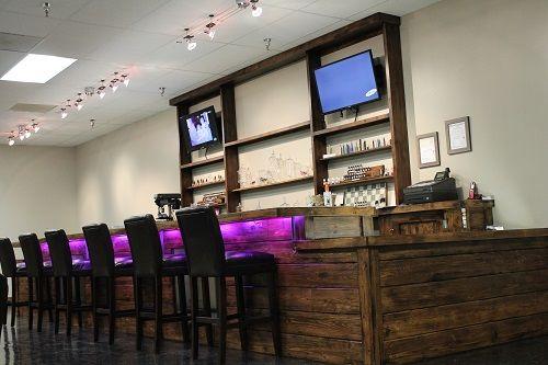 Cool lights at bar