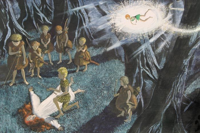 "Mikhail Bychkov illustration for ""Peter Pan""."