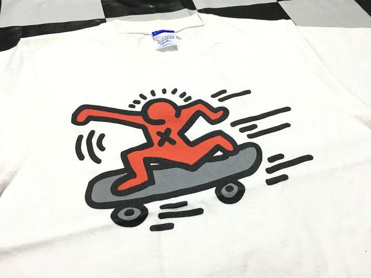 Vintage Keith Haring t shirt skateboard art logo grafiti pop art artist by AlivevintageShop on Etsy