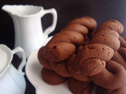 Κουλούρια με ελαιόλαδο και σοκολάτα