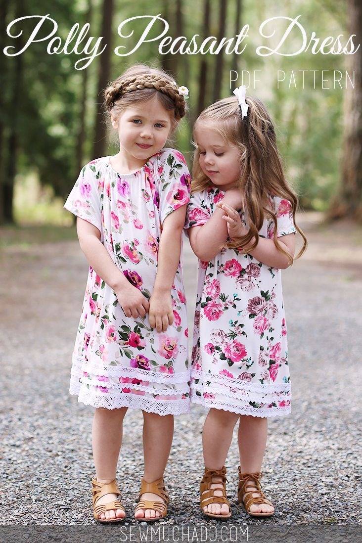 Girl's Dress Pattern - Polly Peasant Dress by Sew Much Ado - such an adorable and easy sew!