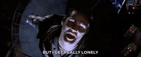 New trendy GIF/ Giphy. jim carrey lonely the cable guy but i get really lonely. Let like/ repin/ follow @cutephonecases