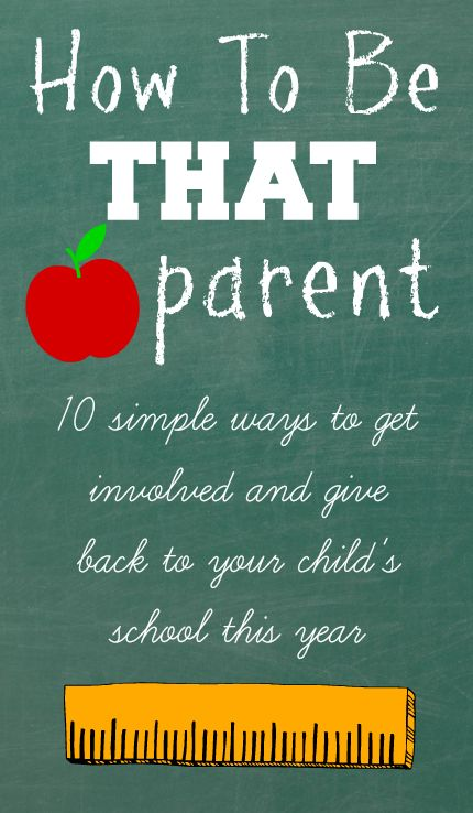 be involved in your child's school