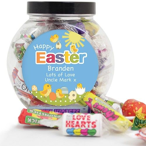 212 best easter gifts images on pinterest easter gift brand new personalised easter chick sweet jar from personalised gifts shop only 799 negle