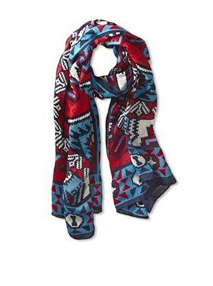 63% OFF Theodora & Callum Women's Chichen Itza Tie-All Scarf, Turquoise Multi