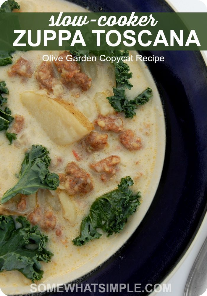 Slow Cooker Copycat Zuppa Toscana Gardens Simple And Olives