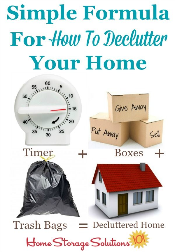 how to declutter your home a simple formula other home and step by step instructions. Black Bedroom Furniture Sets. Home Design Ideas