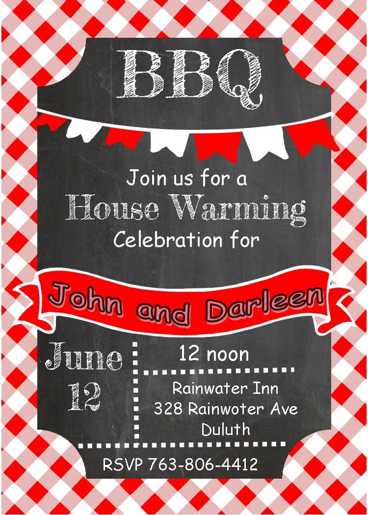 21 best House warming party invitaitons images on Pinterest - bbq invitation template