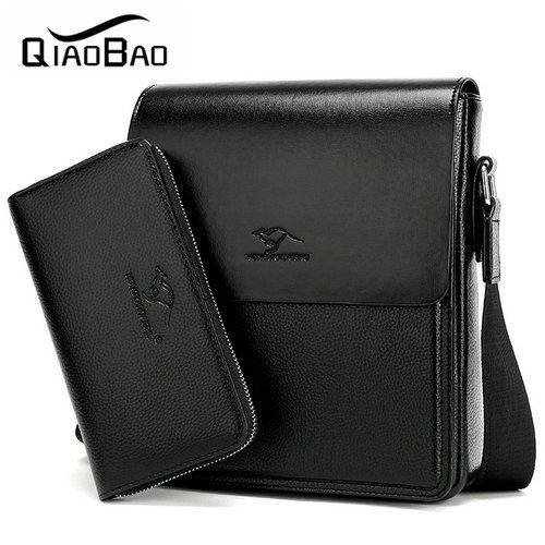 QIAO BAO (With a Wallet) Brand Bag Men Messenger Bags Men's Crossbody Satchel Man Satchels bolsos Men's Travel Shoulder Bags #jewelry, #women, #men, #hats, #watches, #belts