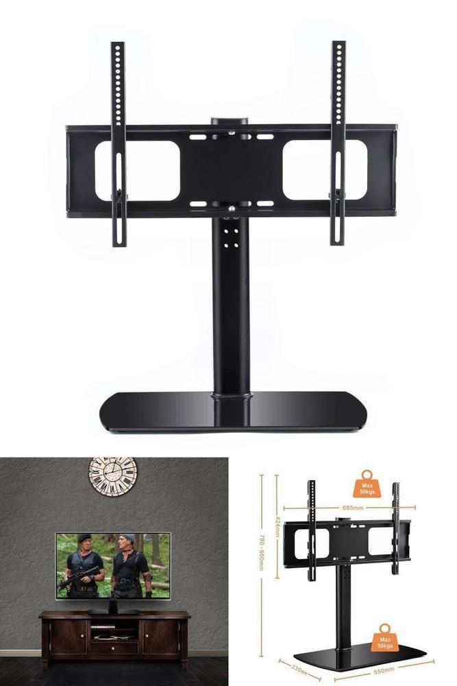 Tabletop Universal Tv Stand Riser Pedestal Swivel Mount Bracket Lcd Led37 To 65