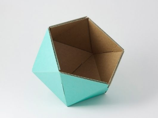 how to make geometric shapes with cardboard