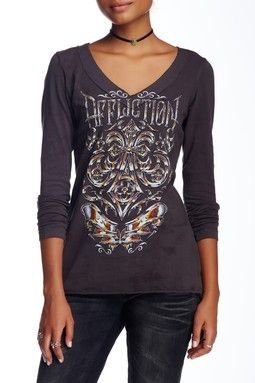 Affliction Abrasive Line V-Neck Tee