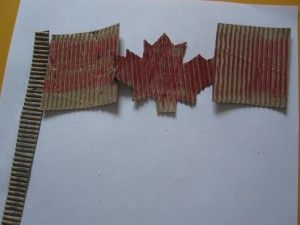 Recycled Canadian flag