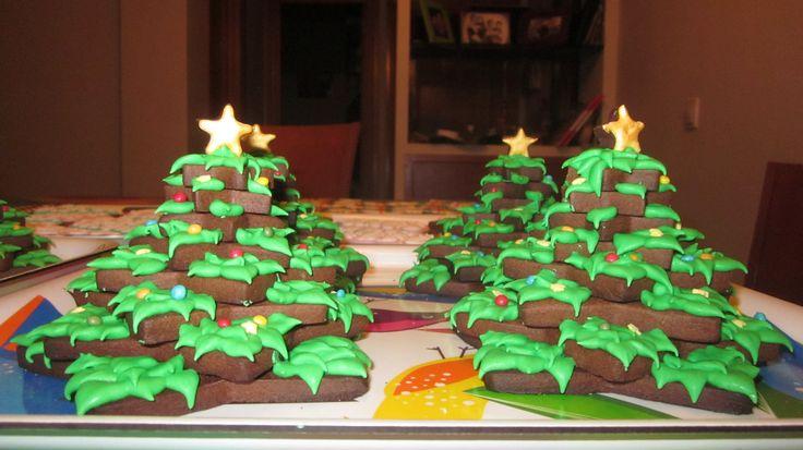 Árboles de Navidad de galleta.