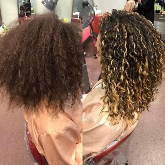 This Client Came To Devachan All The Way From Paris For A Devacut Pintura Highlights Curly Hair Styles Highlights Curly Hair Curly Hair Salon