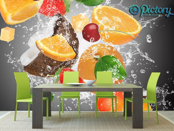 kuchnia z fototapetą na ścianie - Szukaj w Google