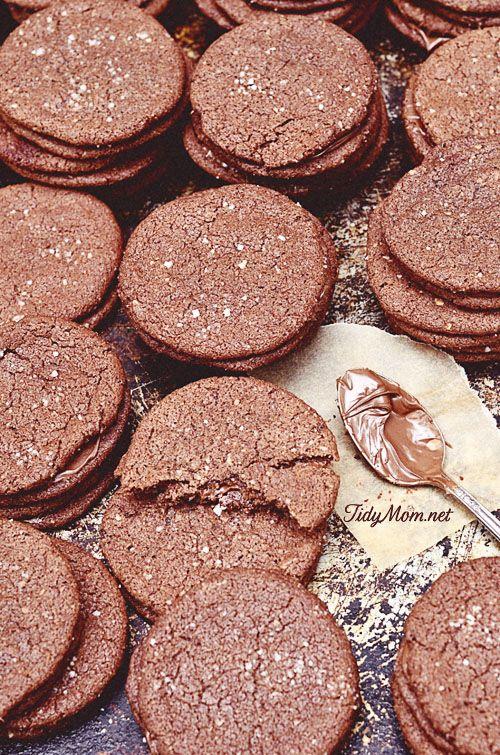 Nutella Sandwich cookie recipe TidyMom.net @Cheryl Tidymom
