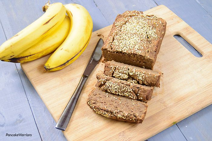 Protein Banana Bread [Classic banana bread elevated with the addition of protein powder - vanilla. Cocnut flour, brown rice flour, oat flour] | www.PancakeWarriors.com | #glutenfree