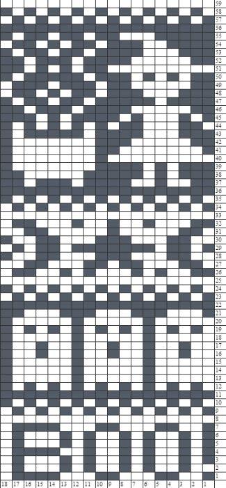 2/2 Halloween Fair Isle Chart