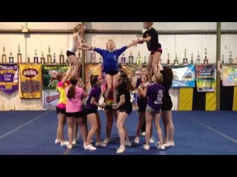 Level 4 Cheerleading Pyramid - YouTube #Cheer #Cheerleader #SpiritAccessories #ThingsWeLove