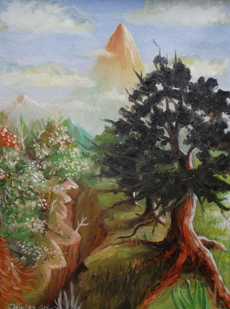 """Original Oil painting :Landscape: """"Scenery  """", Signed by Charles Goh #Impressionism"""