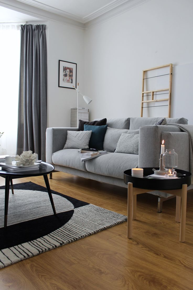 After months of debating and sitting on a plethora of sofas, I finally decided on IKEA's two seater Nockeby sofa in Tallmyra Black & White. I can confirm, it is exceptionally comfy. The room is still half done, but I couldn't resist some more pieces from the IKEA x HAY YPPERLIG collection either. #ikeaatmine #ypperlig