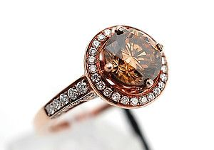Chocolate diamonds. I have to have choc. Diamonds some time in my life Beautiful ring and pricey