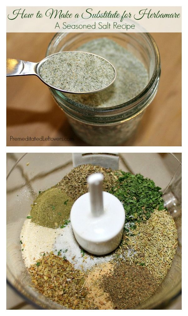 How to Make a Substitute for Herbamare - Easy seasoned salt recipe using spices from your pantry. Save money and make your own Herbamare substitute at home.
