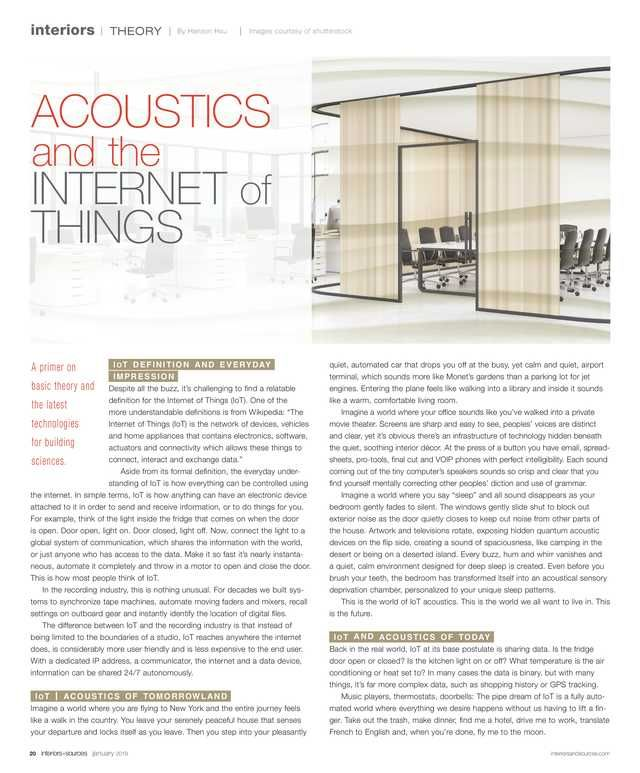 Interiors And Sources January 2019 Page 20 21 Healthcare
