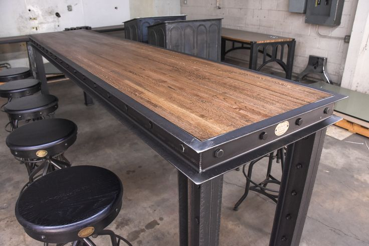 Firehouse Bar Table | Vintage Industrial Furniture