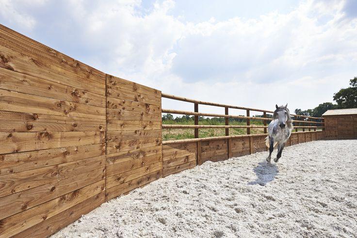 Magnifique clôture bois #clôture #bois #aménagement #extérieur #horse