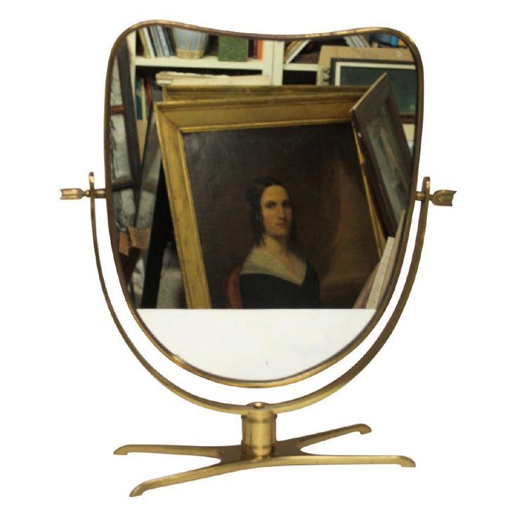 Lot: Gio Ponti Style Italian Dresser Mirror, Lot Number: 0132, Starting Bid: $100, Auctioneer: Dutch Auction Sales, Auction: Asian, Fine Art, Luxury Fashion & MCM, Date: June 5th, 2017 EDT