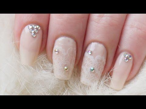 Нежный свадебный маникюр / Wedding nailart tutorial