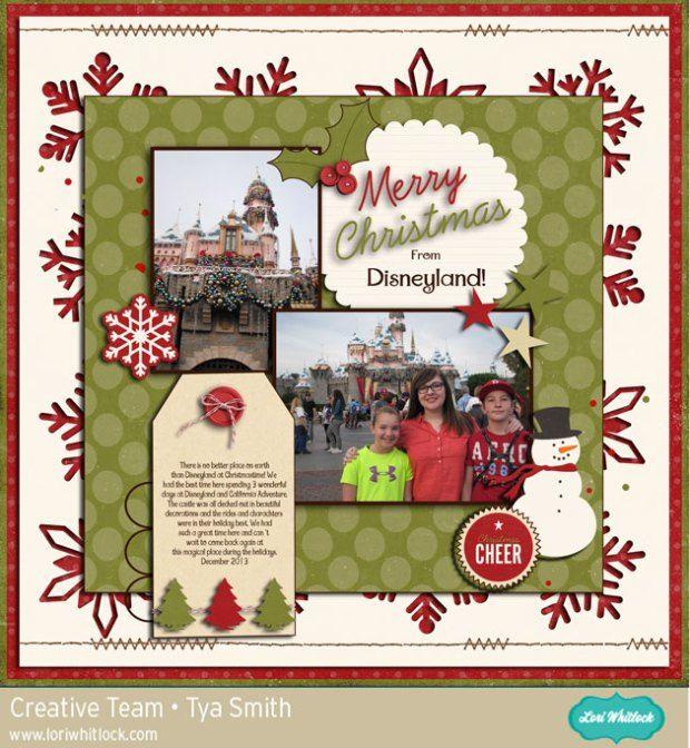 Christmas Is Here digital scrapbook layout by Tya Smith. #loriwhitlock #snapclicksupply
