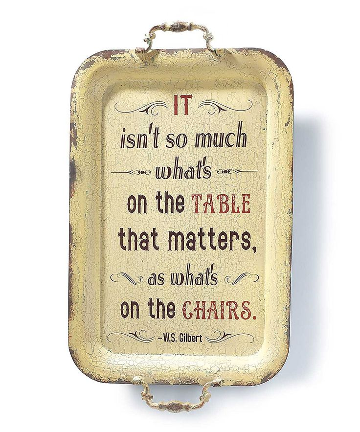 Like the idea of using an old tray for a food/family quote.