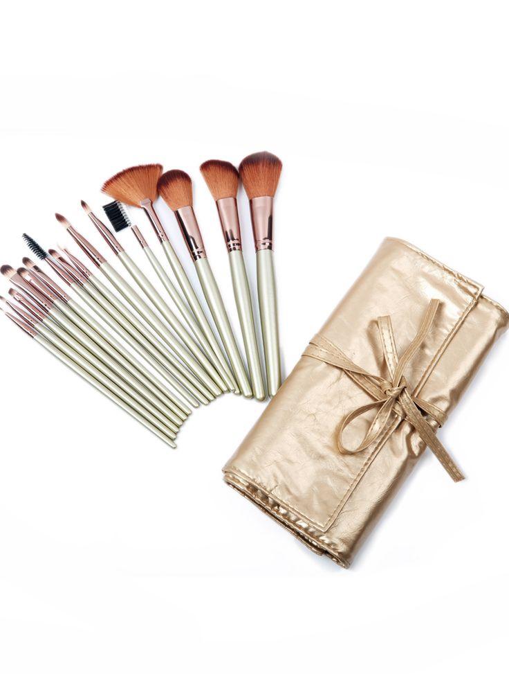 16pcs Gold Makeup Brush Set 17.67
