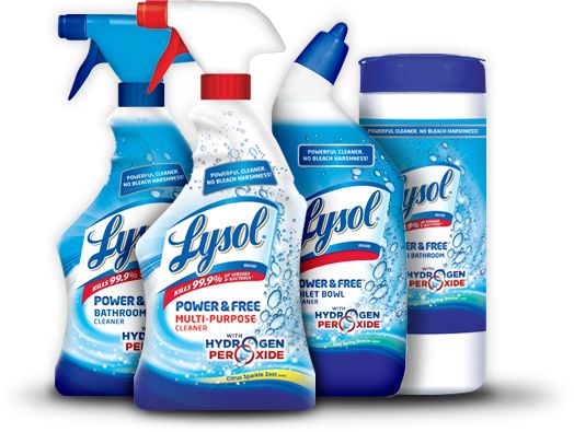 LYSOL Power And Free Hydrogen Peroxide Gets Rid Of Soap