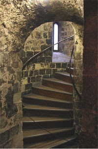 stairs leading to the execution chamber in the Tower of London
