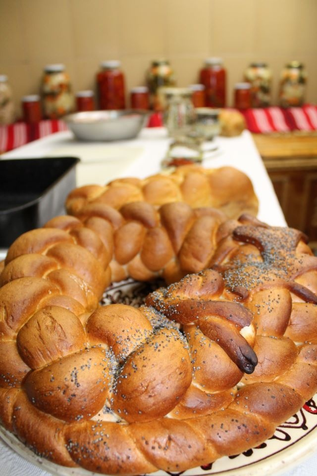 Sweet bread has a long lasting tradition in Romania. We have it in most religious rites, it's there when you get married, when you have a baby, and when you do something to commemorate someone dear.