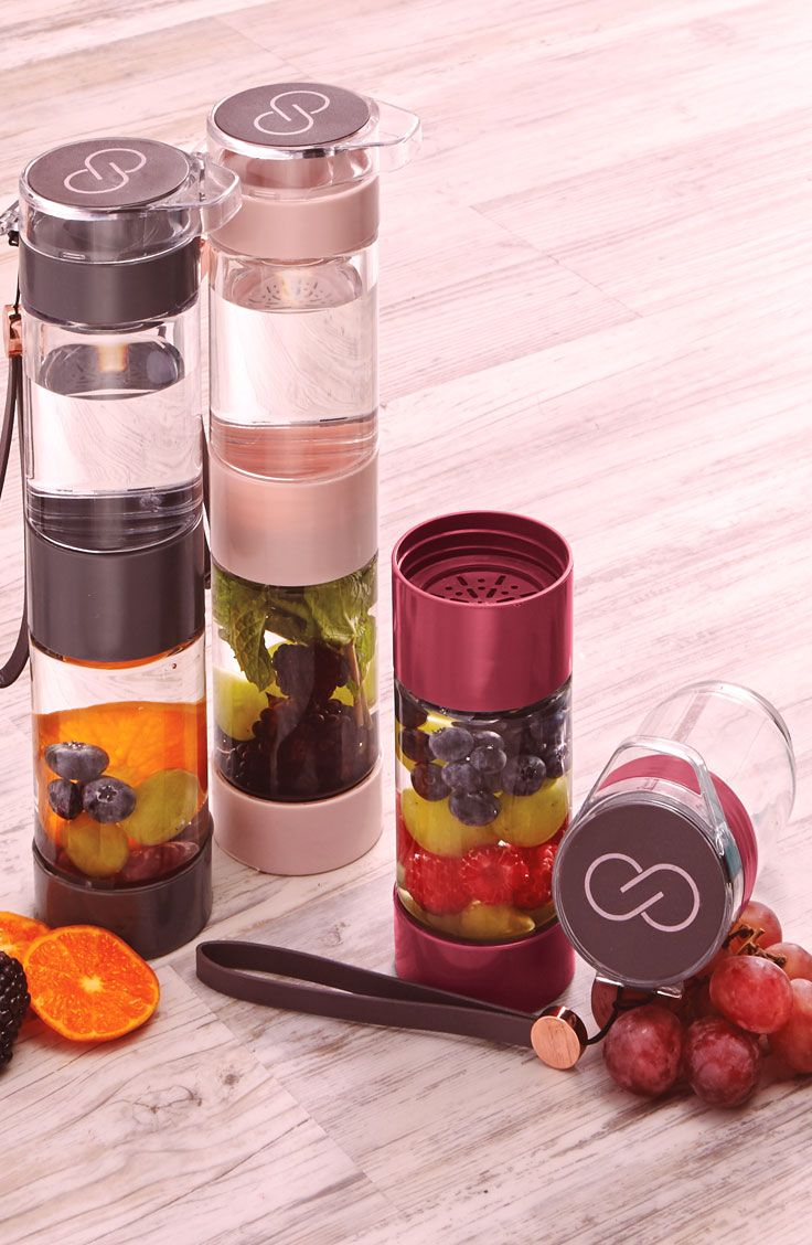 Refresh and rehydrate as you go to and from yoga class with the CALIA™ by Carrie Underwood Fruit Infusion Water Bottle. Detachable pieces make it easy to use and clean, while the middle strainer lets you add fresh fruit combinations to your water. The durable and impact-resistant design offers a flip-top, leak-proof lid and an attached wrist lanyard for transportation. Support your active, healthy lifestyle with the Infusion Water Bottle.   CALIA by Carrie Underwood