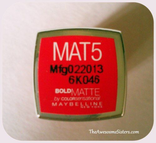 The Awesome Sisters: Bold Matte Review #makeup tips #instant makeup #makeup and beauty blog