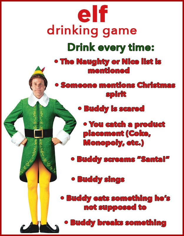 �Buddy the Elf, what�s your favorite drink?� | 10 Christmas Movie Drinking Games You Need To Play This Year