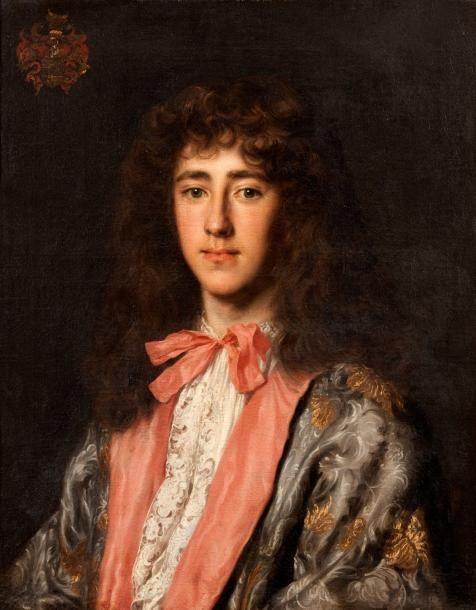 Portrait d'un gentilhomme avec un noeud rose, par Jacob-Ferdinand Voet