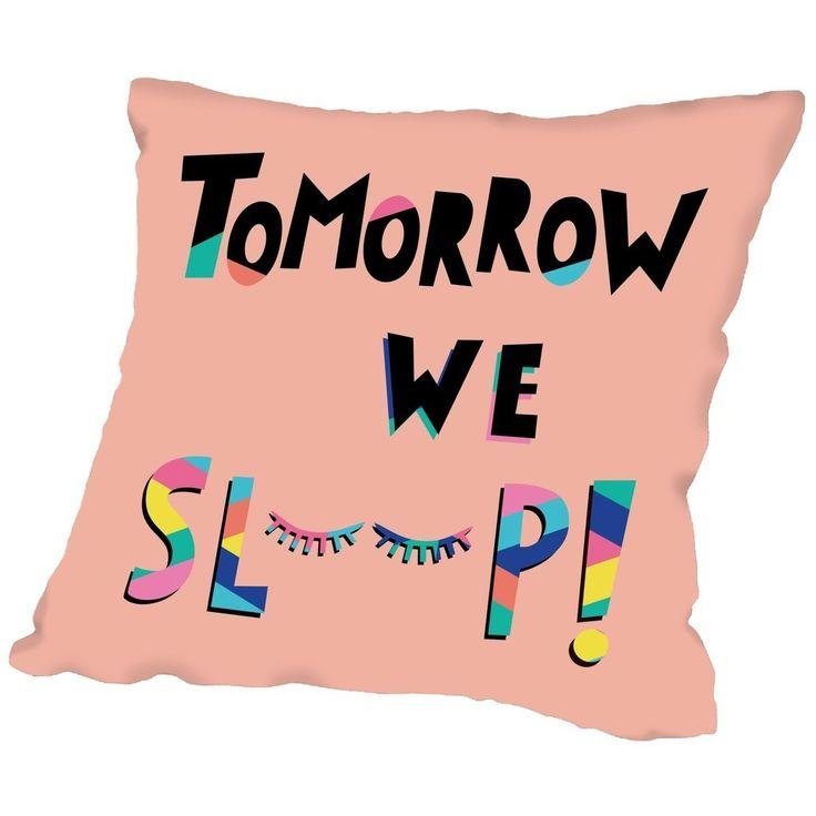 Libra Tomorrow We Sleep Print Throw Pillow