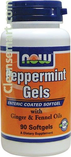 pepermint oil vegetable capsules | enteric coated pepermint oil | now