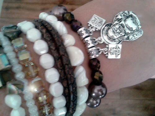 #Buddha #shell #swarovski #beads #pearl