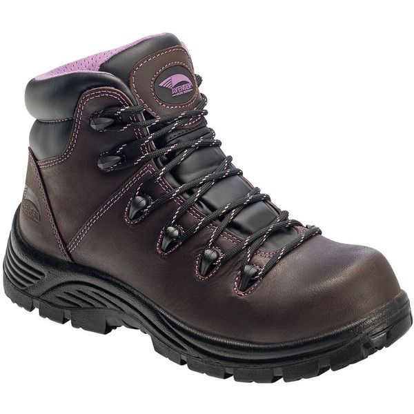 Avenger CT Puncture Resist Hiker Women's Brown Boot ($95) ❤ liked on Polyvore featuring shoes, boots, brown, steel toe shoes, waterproof boots, brown cap, fleece-lined boots and lightweight steel toe shoes